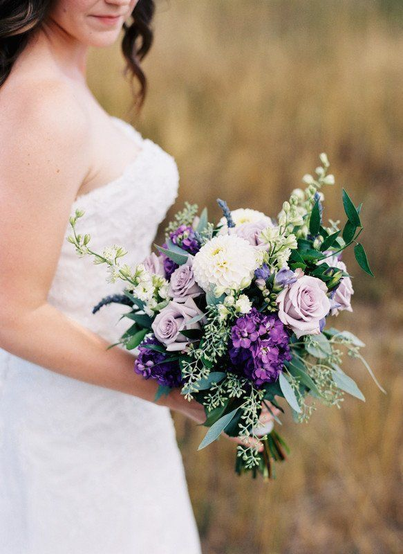 Purple wedding bouquet idea - rustic #bouquet with #greenery {Plum Sage Flowers} #purpleweddingflowers Purple wedding bouquet idea - rustic #bouquet with #greenery {Plum Sage Flowers} #purpleweddingflowers