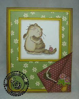 Okieladybug's Scrap N' More: Cat with Ladybug - Penny Black Stamps