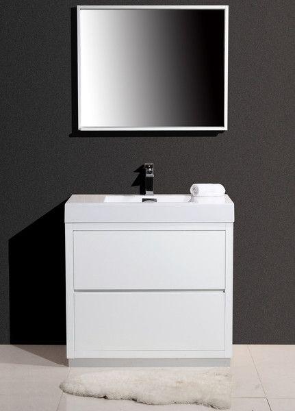 "Bliss 36"" Modern White Vanity - The Vanity Store Canada ..."