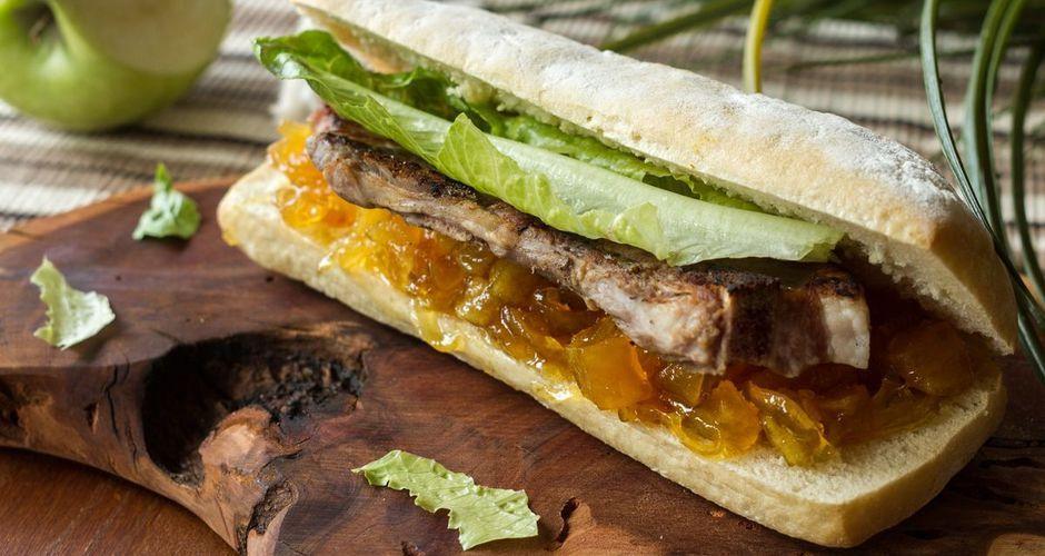 Pancetta and Apple Chutney Sandwich