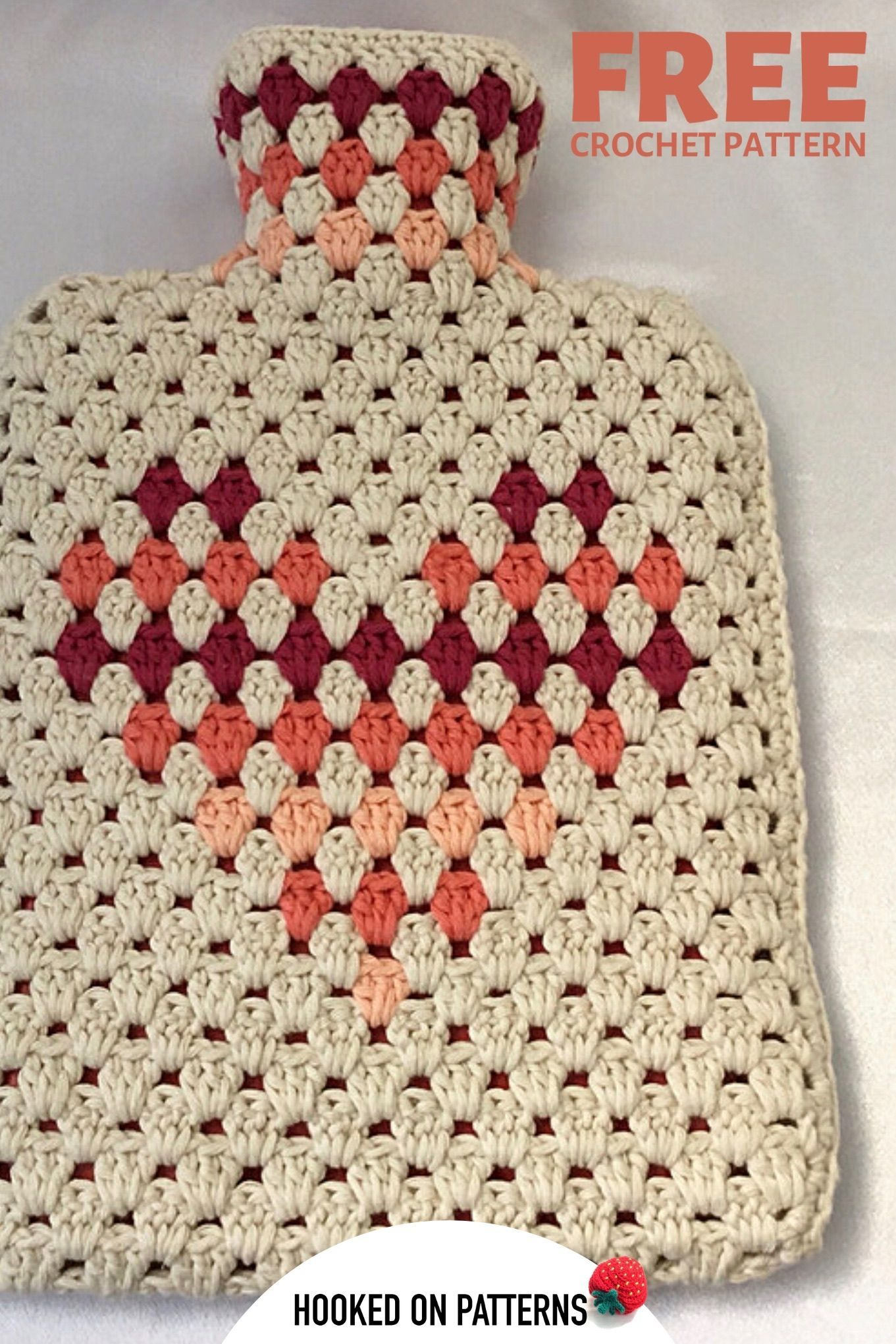 Photo of FREE Hot Water Bottle Cover Crochet Pattern