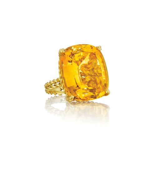 PHILLIPS : NY060113, TIFFANY & CO., A Citrine and Gold Ring....who wants to buy this for me?