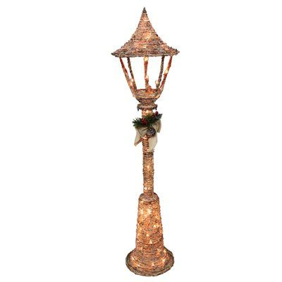 Outdoor Christmas Lamp Posts.Holiday Living 5 Ft Grapevine Lamp Post Lighted Outdoor