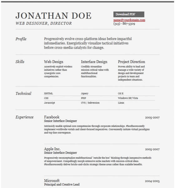 Free Resume  Cv Templates  Freebies    Cv Template