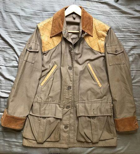 9af14bf29f4f6 Men's vintage rare 10x hunting shooting jacket with leather shoulder padding  size 44