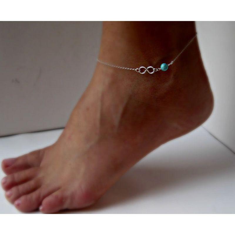 7c03c207dc34 1pc moda mujer tobilleras corazón borla tobillo pulsera pie cadena joyas