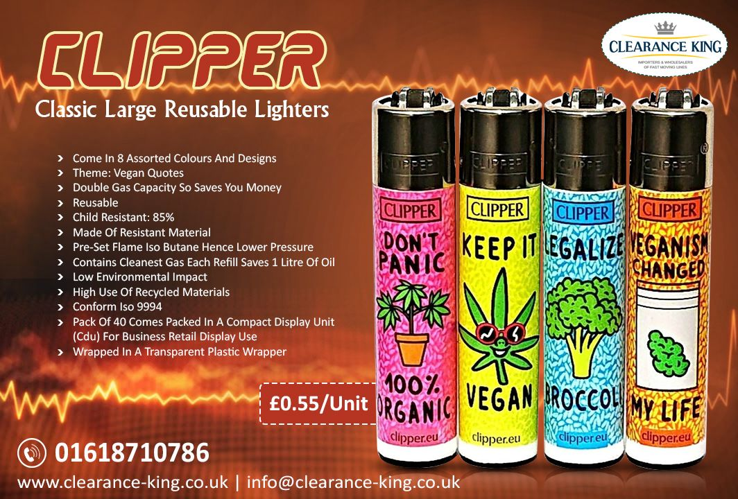 Clipper Classic Large Reusable Lighters #veganquotes