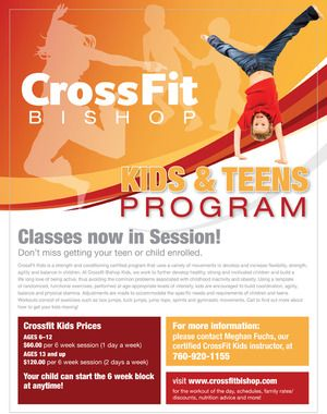 crossfit flyer design kids fitness program nils davis design