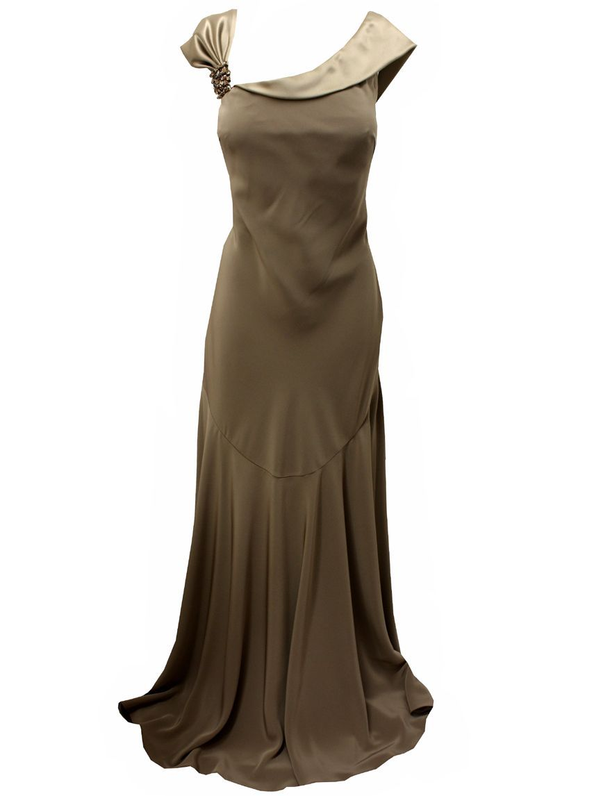 Evening Dresses  ladies taupe long evening dress beautiful taupe