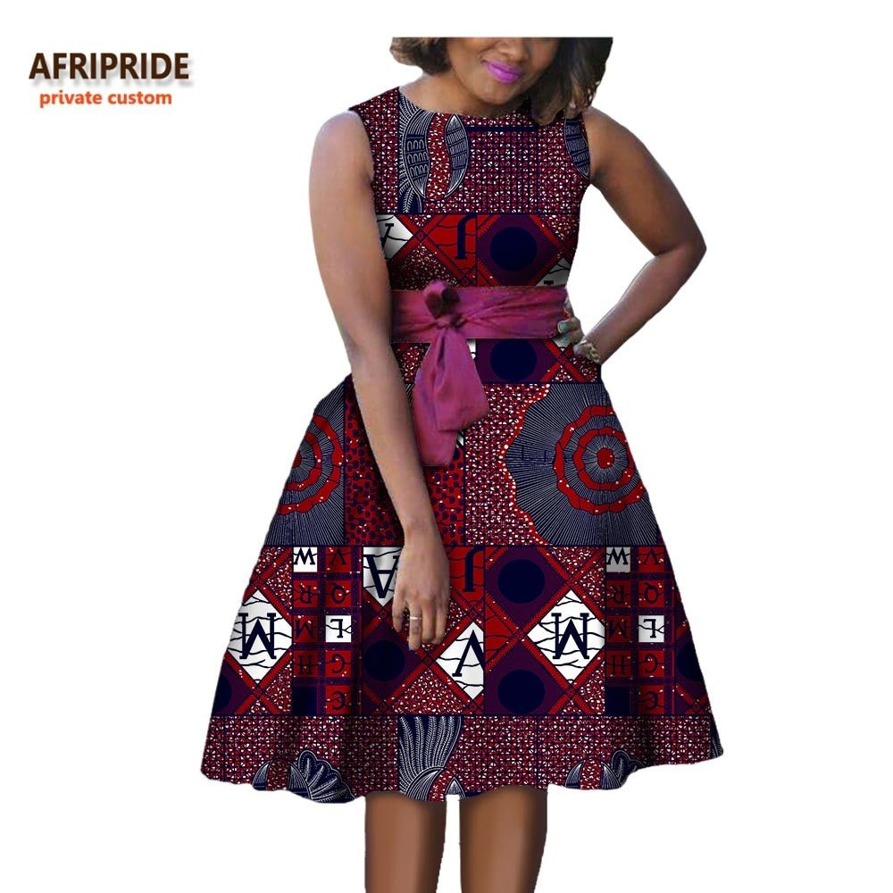 Cheap casual dress, Buy Quality women african dress directly from China autumn women Suppliers: 2018 autumn women african dress AFRIPRIDE private custom sleeveless knee-length A-Line pleated casual dress pure cotton A722584 Enjoy ✓Free Shipping Worldwide! ✓Limited Time Sale ✓Easy Return. #africandressstyles