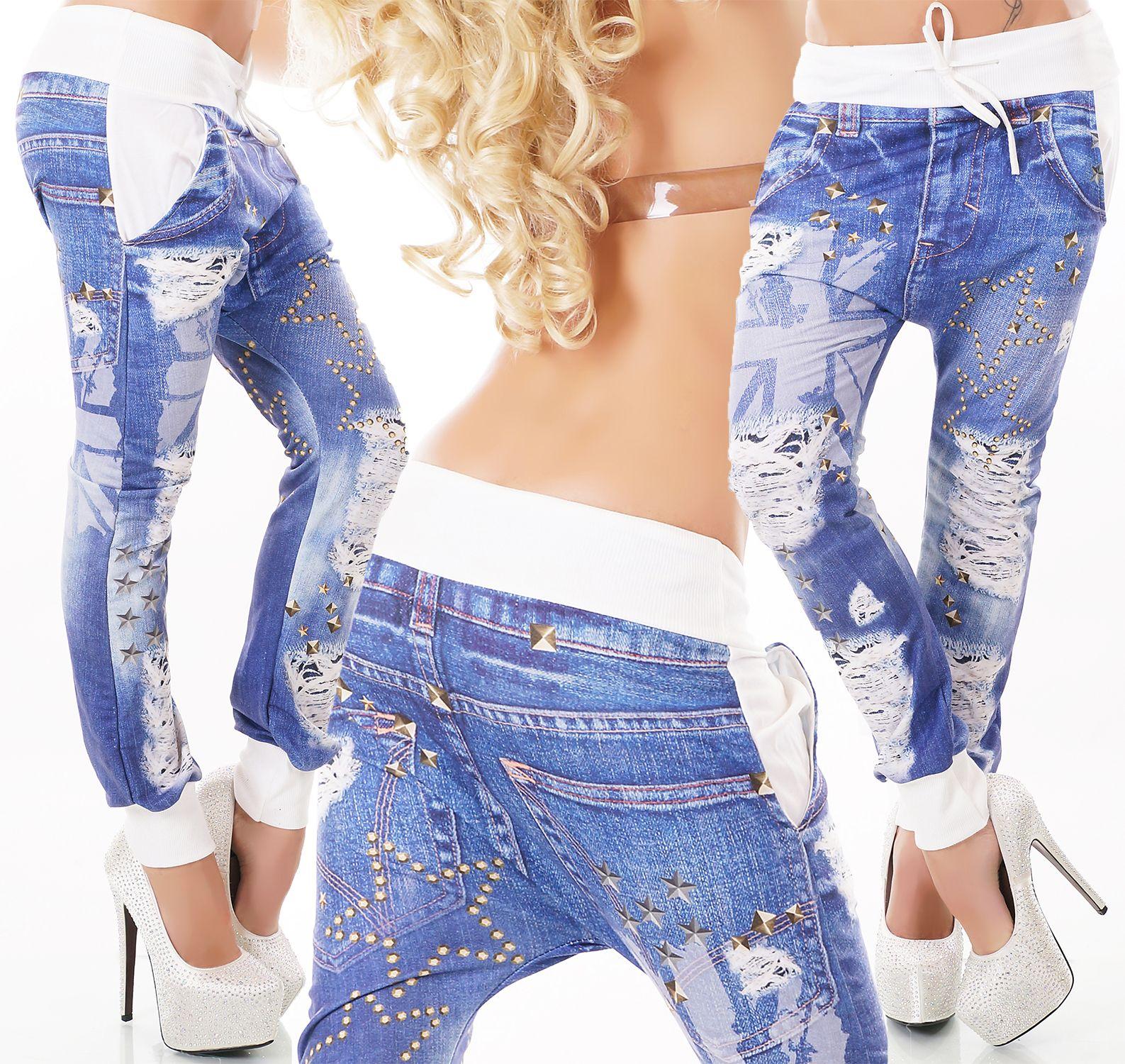 f55b5dd81f39 Dámské baggy kalhoty s potiskem