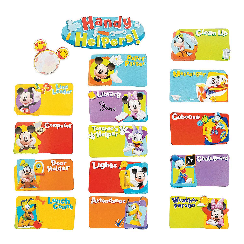 Mickey Mouse Classroom Job Chart
