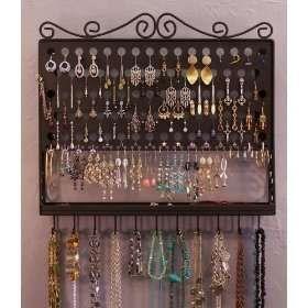 Jewelry Organizer ~ Pierced Earring Holder Tree ~ Wall Mount