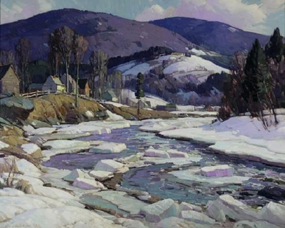 'West River, Vermont', by Aldro Thompson Hibbard.  (1886-1972)