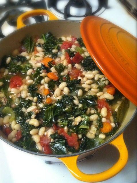 レシピとお料理がひらめくSnapDish - 2件のもぐもぐ - white bean and kale stew by kyle hagerty