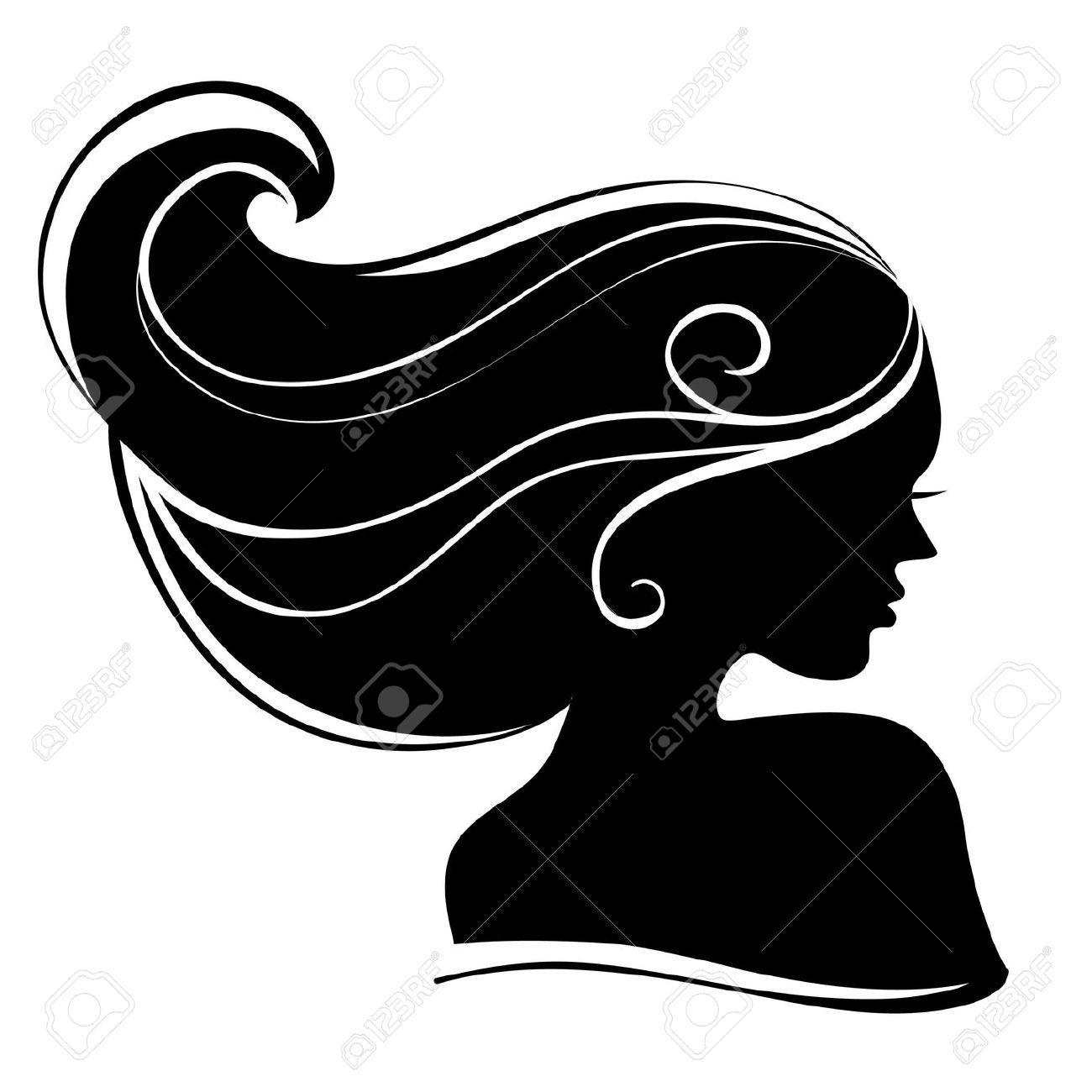 Stock Vector | Silhouette clip art, Woman face silhouette ...