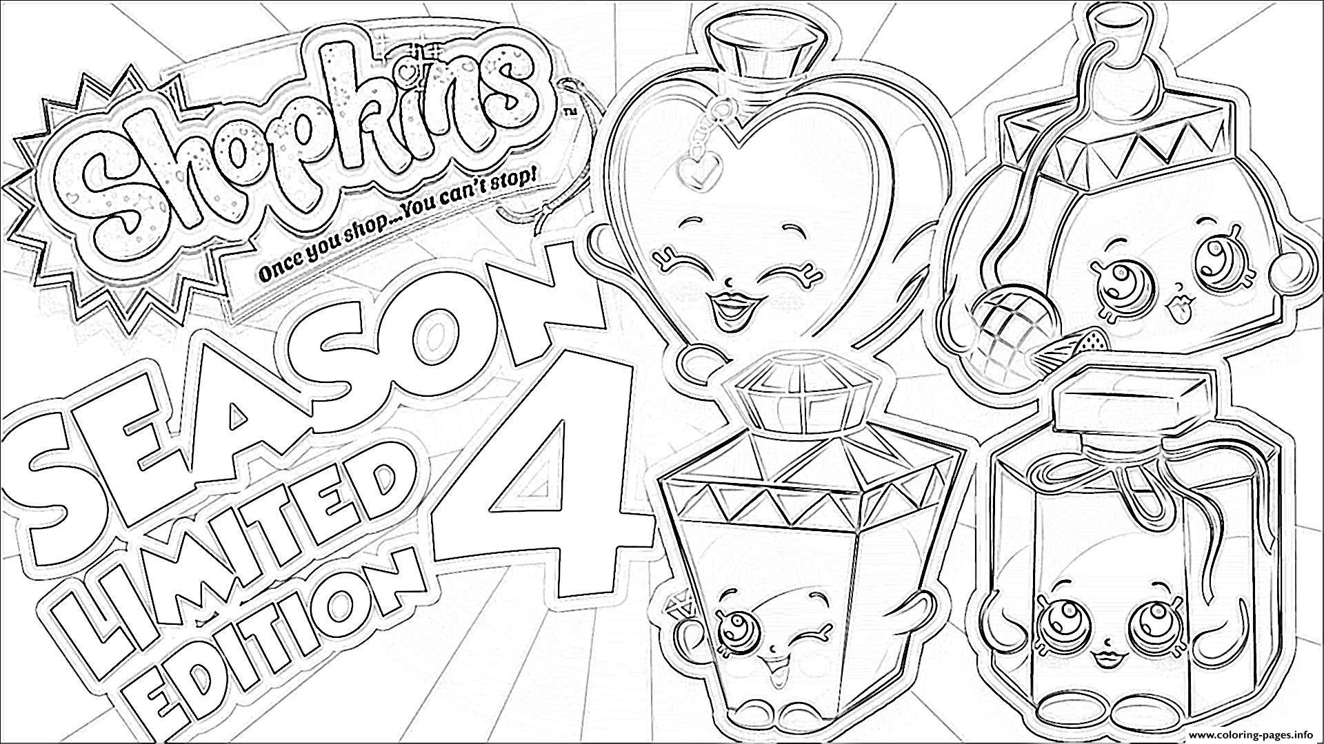 Print Shopkins Season 4 Limited Edition Coloring Pages