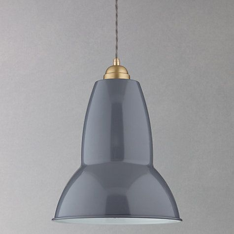 Buy anglepoise original 1227 brass maxi pendant elephant grey from our ceiling lighting range at john lewis