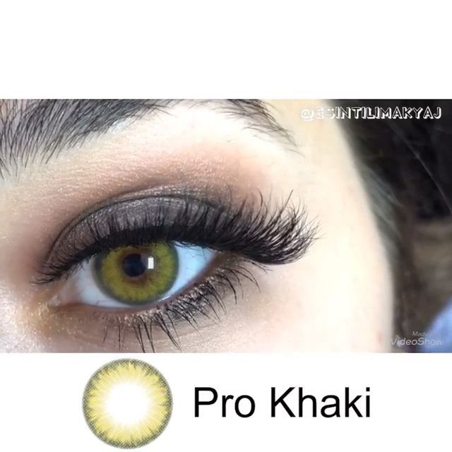 "For those who want green #eyelooks : 😍😍😍#prokhaki Contact Lenses; So charming! This green #eyelook is so warm! They cover the eyes and blend well! Use her code ""esintilimakyaj"" to save much money 💰/ Find out more online #vceebeauty www.vceebeauty.com/ #freeshipping ; Make up your eyes with #vceebeautycontacts ; ~~~ #greencontacts #makeuplooks #eyemakeup #beautiful #makeuptutorial"