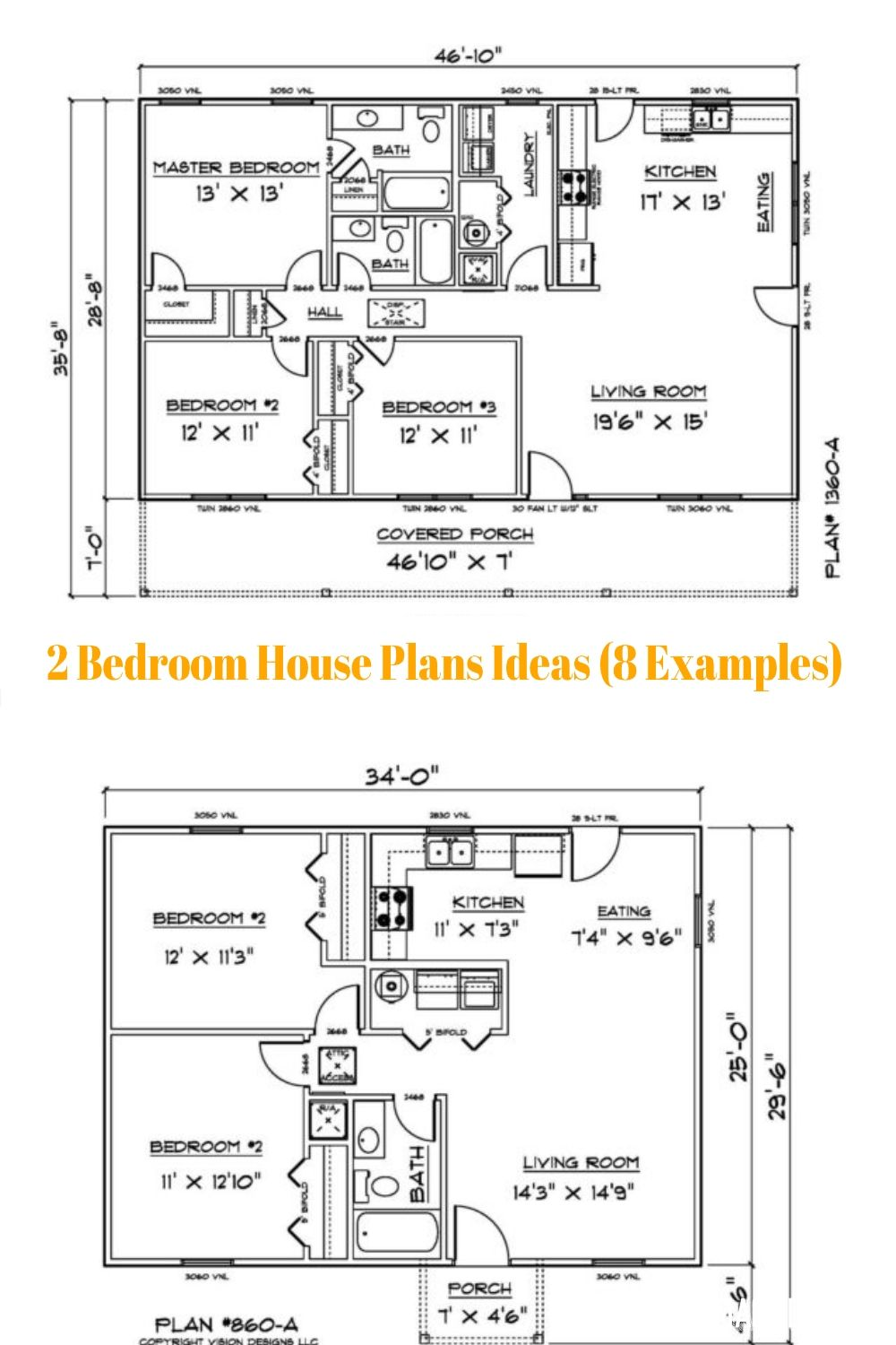 2 Bedroom House Plans Ideas 8 Examples Bedroom House Plans 2 Bedroom House Plans House Plans