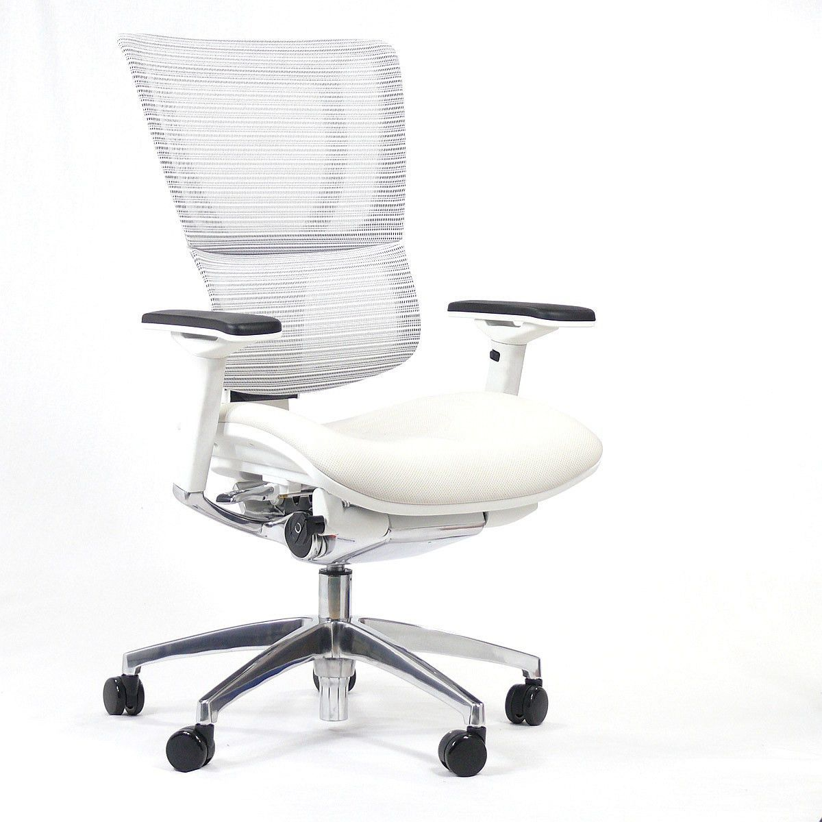 Loading white ergonomic office chair home office furniture