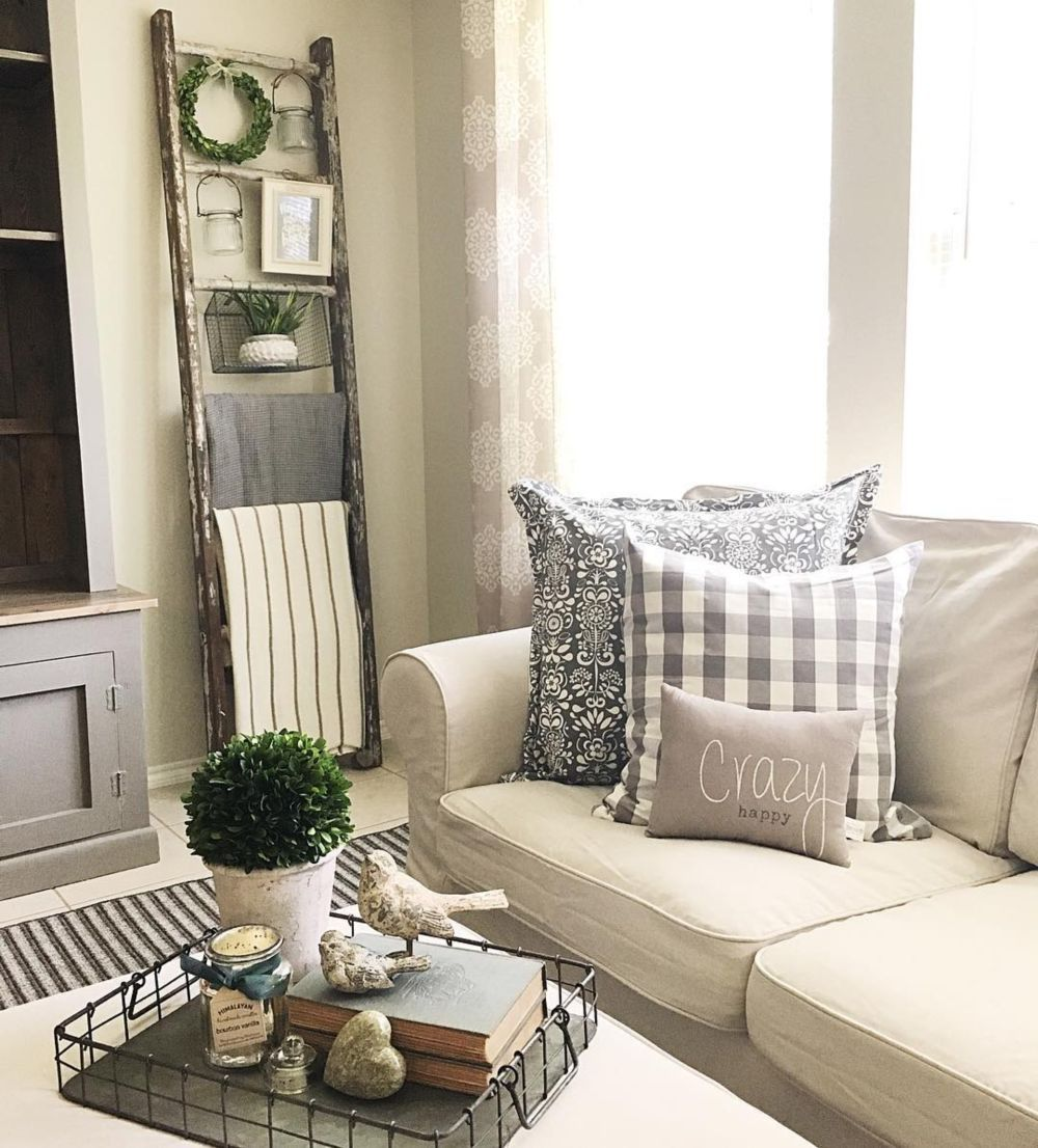 39 simple rustic farmhouse living room decor ideas
