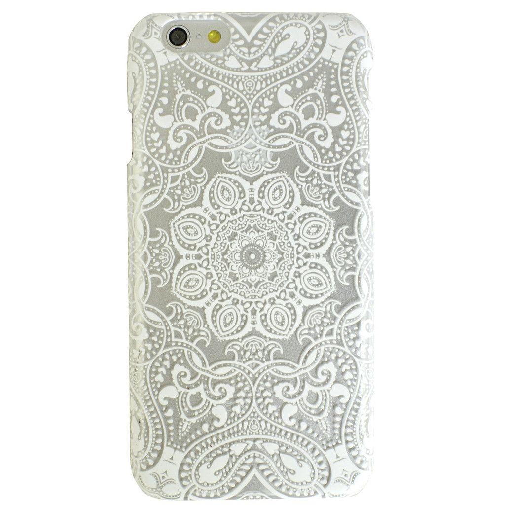 Clear White Mandala Tribal Boho Bohemian iPhone S  Case  Mandala