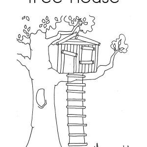 Treehouse Of Birds Coloring Page Treehouse Of Birds