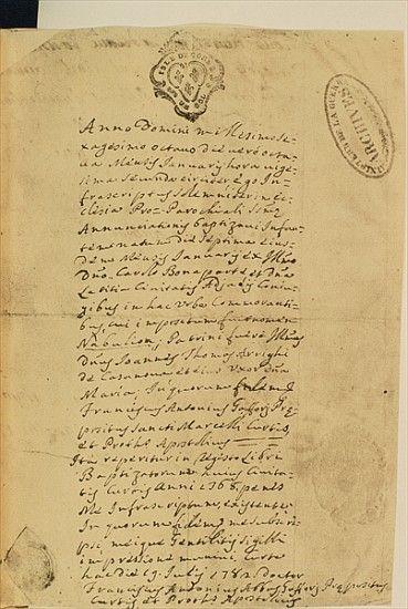 Napoleonu0027u0027s Birth Certificate (1769) Napoleon Bonaparte - best of florida birth certificate sample