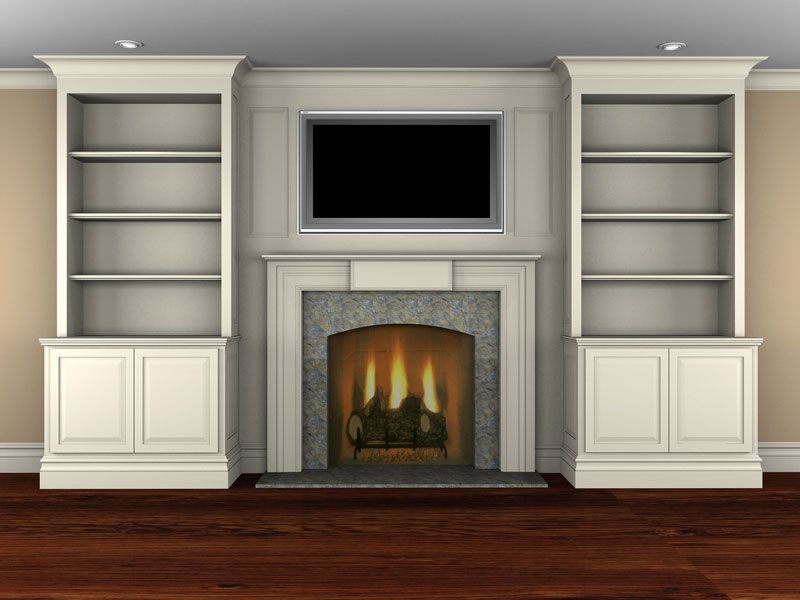 Fireplace Bookcase On Pinterest Pasadena Real Estate Bookshelves Around Fireplace And Kitchen