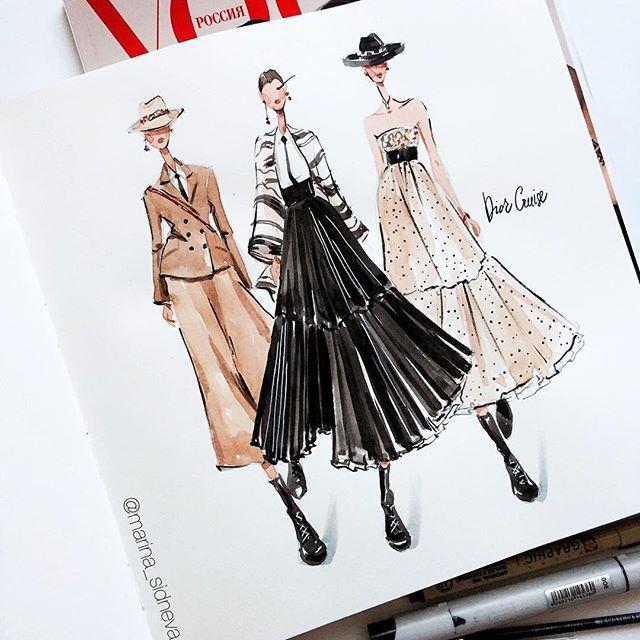 "Photo of Fashion Illustrator / Artist on Instagram: ""Good morning world🙌🏻"""
