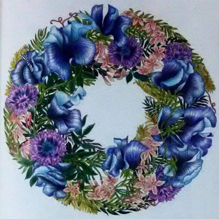 Diamond Painting 5d Full Drill Garland Annebuy Coloring Book Art Flower Drawing Colorful Flowers