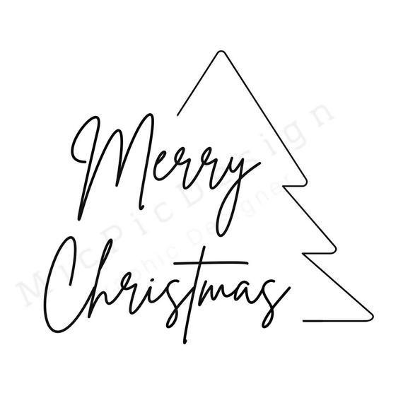 Merry Christmas SVG-downloadable christmas svg-mer