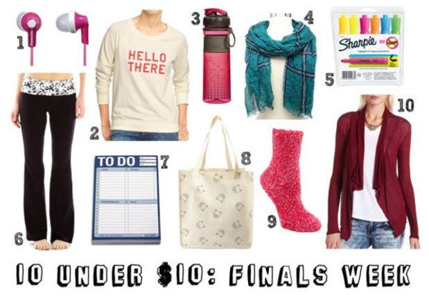 10 Under $10: Finals Week Essentials - College Fashion