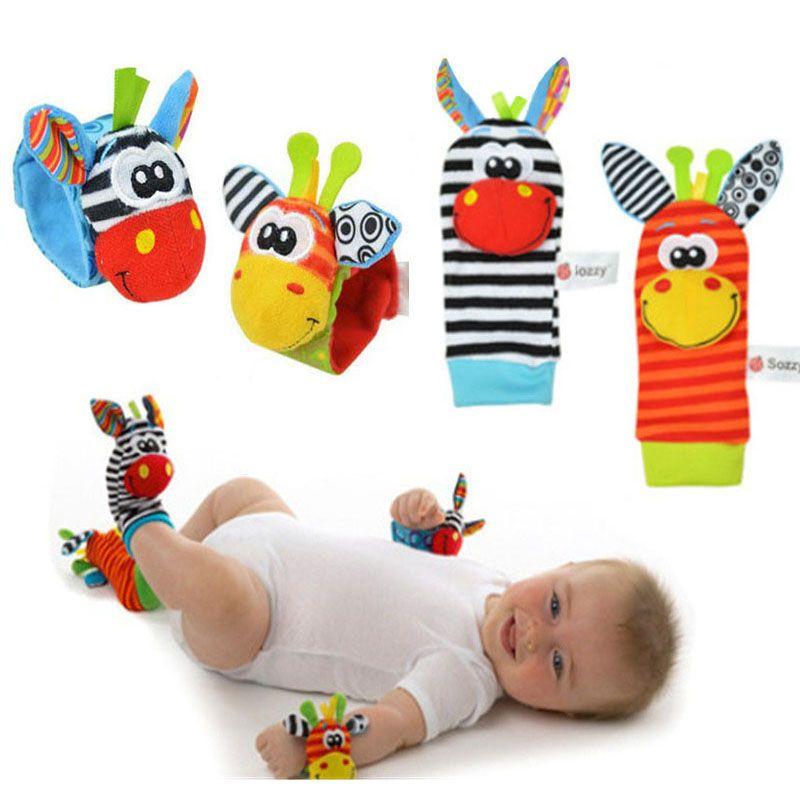 Soft Baby Sensory Wrist Strap Rattle Toy Hand Ankle Bell Kid Child Toys Bracelet