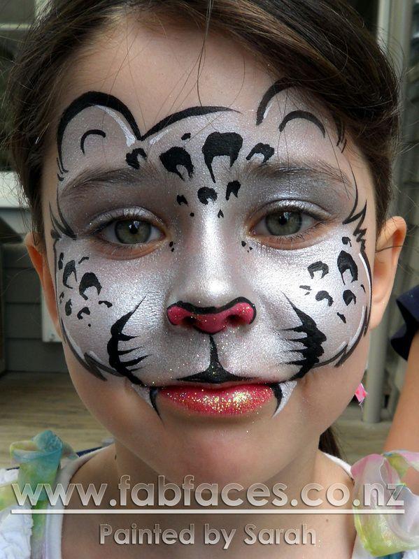 Leopard Face Paint | Face Painting by Sarah - Snow Leopard ...