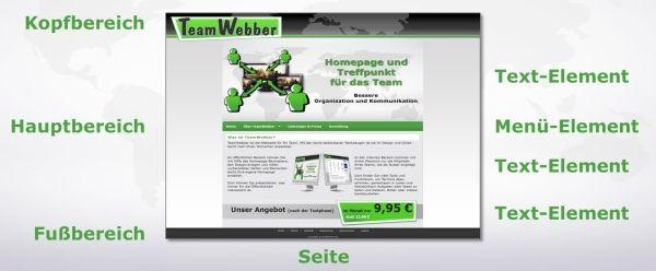 Im TeamWebber Homepage-Baukasten für Vereine kann man unbegrenzt Seiten erstellen. Jede Seite ist einfach aus verschiedenen Elementen zusammenzusetzen, z.B. Text, Bilder, Blog, Musik, Videos, Kalender, Notizbuch und vieles mehr.