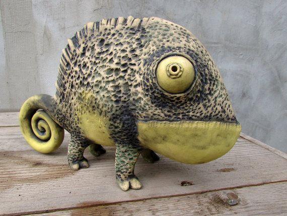 Stehle Maritim ceramic chameleon schamott chamä und schimmel