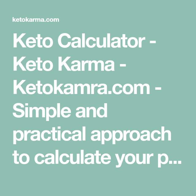 Photo of Keto Calculator – Keto Karma – Ketokamra.com