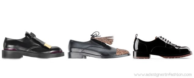Women top footwear trends for fall winter 2014/15 Fringe Lace-up  #marni #markuslupfer #valentino