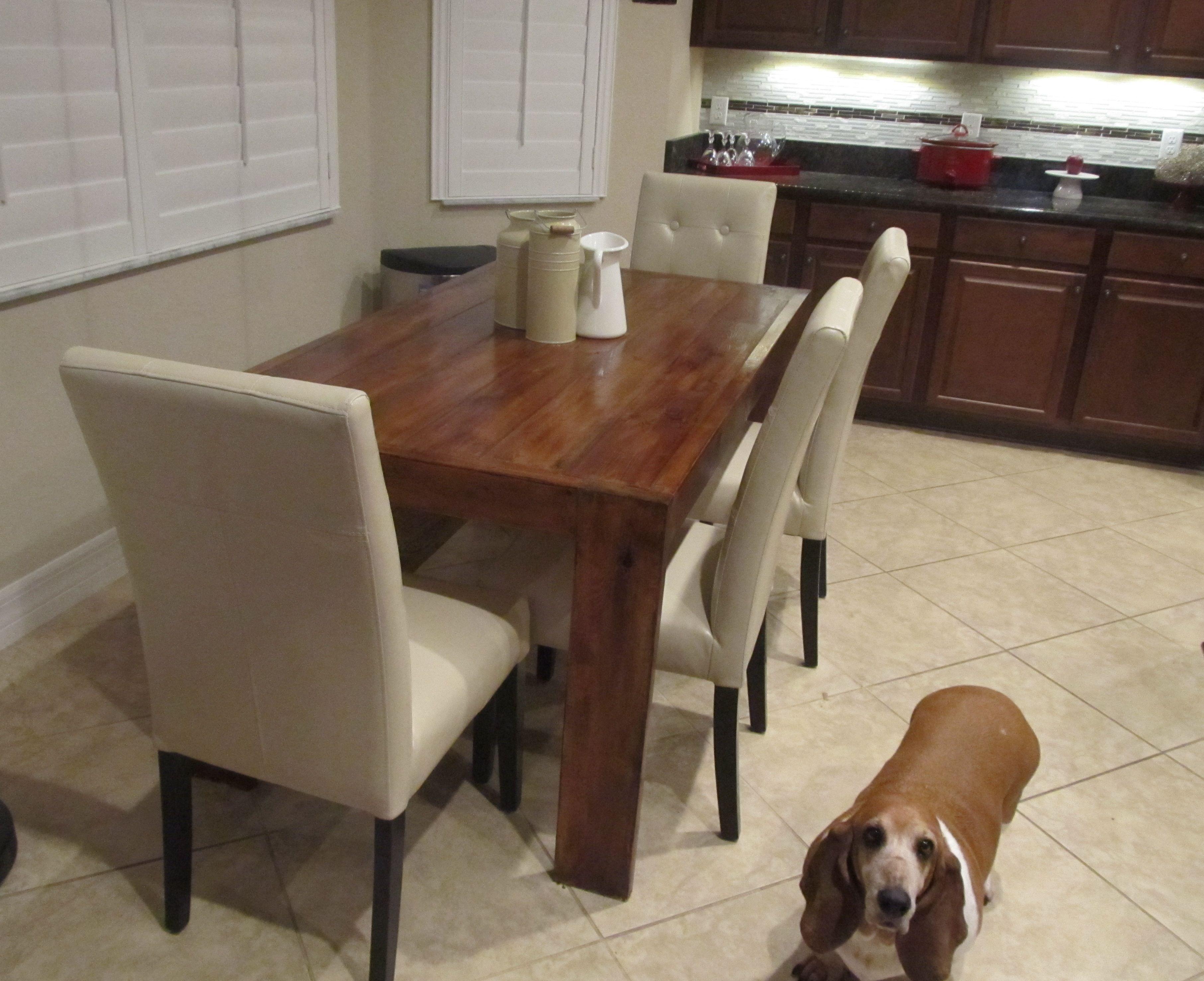 Ana white modern farmhouse table and bench diy