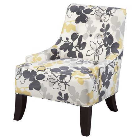 Roll Back Accent Chair With Small Arms And Contemporary