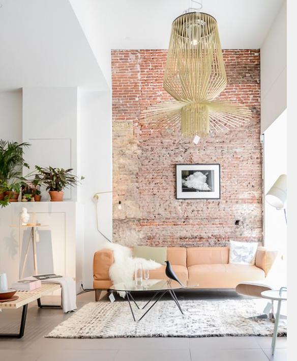 decoration interieure contemporaine tendance conseils - le mur en briques est toujours une tendance dans la d co