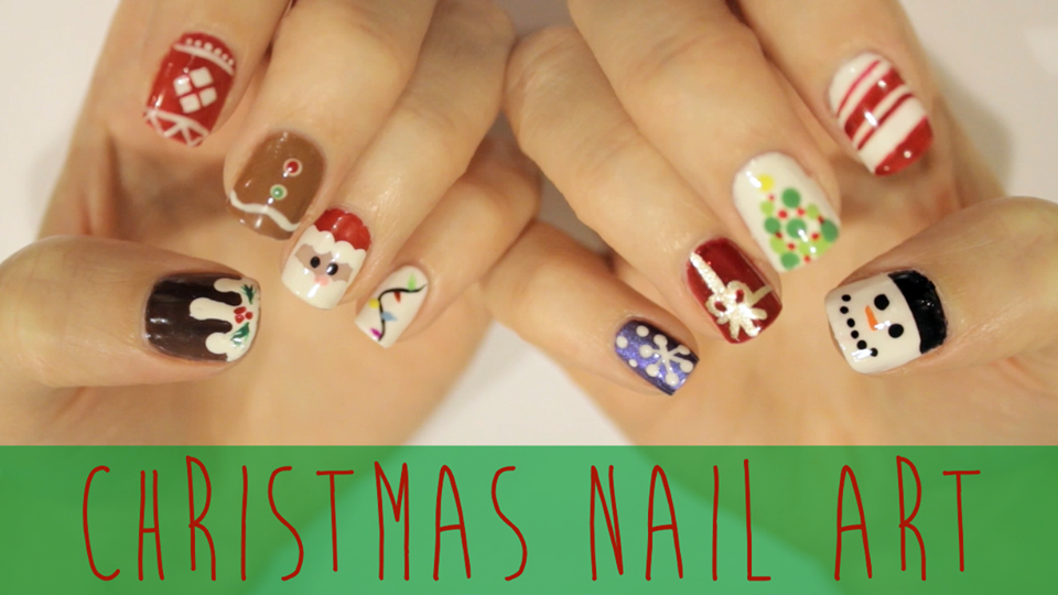 Christmas Nails Where S Jesus And Mary And The Animals I Should Do That Instead D Christm Cute Christmas Nails Christmas Nails Simple Nail Art Designs