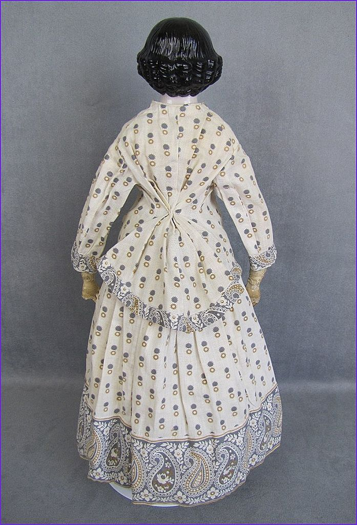 "Early Pink Tint China Lady Doll 19"" Great Early Costume from joysdolls on Ruby Lane"