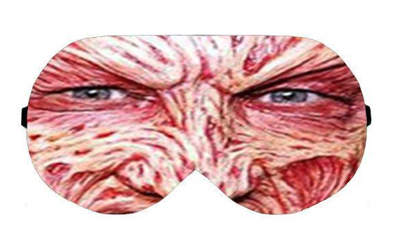 Freddy Krueger Horror Face Sleep Sleeping Eye Mask Masks Handmade Eyemask Sleepmask Napping mask Blindfold Blindfolds cover covers patch kit by venderstore on Etsy