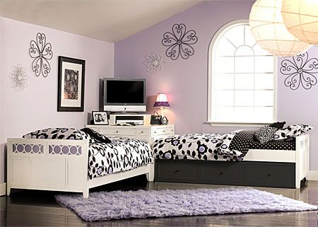Lily Colors Panel Twin Daybeds With Corner Desk Bedroom Set