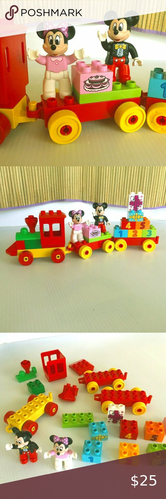 Lego Duplo Mickey And Minnie Mouse Birthday Train In 2020 Lego Duplo Minnie Mouse Birthday Lego For Kids