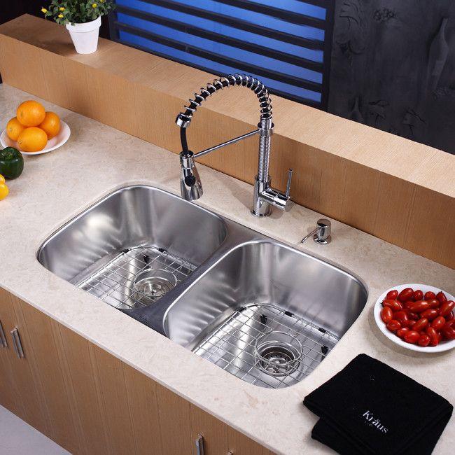 Kraus Kitchen Combo Series Kbu22kpf1612ksd30ch Sink Kitchen