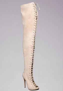 Taryn Lace Up Thigh High Boots on shopstyle.com